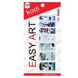 Наклейки для дизайна негтей Easy Art E09