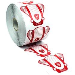 Форма для наращивания ногтей Salon - белый с красным, 500 шт