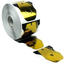 Форма для наращивания ногтей Salon - золотой с черным, 500 шт