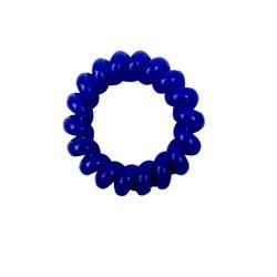 Резинка завиток маленькая глянцевая - синяя