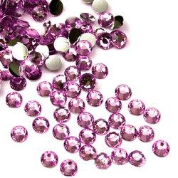 Стразы - камни YRE - розовый, в упаковке