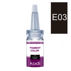Пигмент для глаз KODI E03 - средне черный (для блондинок), 10 мл