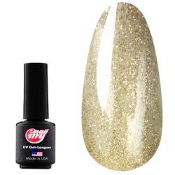 Гель-лак MY Nail №173  - прозрачный с золотистыми блестками, 9 мл