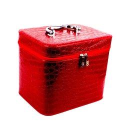 Чемоданчик для косметики YRE SMALL красный лаковый 19х12х13 см (126-1)