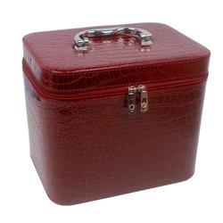Чемоданчик для косметики YRE BIG лаковый - бордо, 23х18х19 см (126-1)