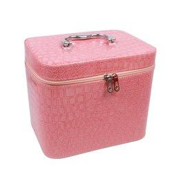 Чемоданчик для косметики YRE SMALL лаковый - светло-розовый, 19х12х13 см (126-1)