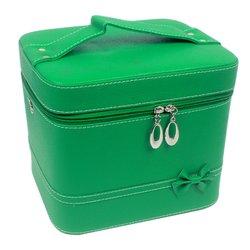 Чемоданчик для косметики YRE BIG матовый - зеленый, 23х18х19 см (126)