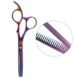 Филировочные ножницы для стрижки ESTET фиолетовый хамелеон 5.5