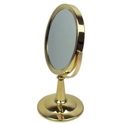 Косметическое зеркало - двустороннее, золотой 34 см (015Z)