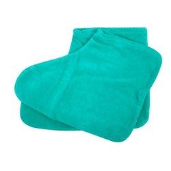 Носки велюр для парафинотерапии Украина 1 пара (бирюзовый)