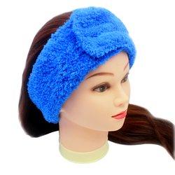 Повязка для волос Украина, махра - голубой, 1 шт