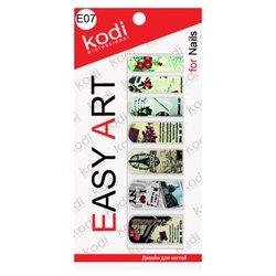 Наклейки для дизайна ногтей Easy Art E07