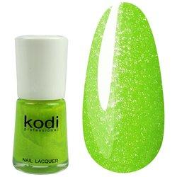 Лак №321 KODI - желто-зеленый с блестками, 15 мл