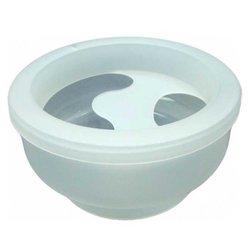 Ванночка для маникюра TICO круглая, белый прозрачный (500110)