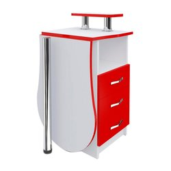 """Маникюрный стол-трансформер  """"Естет компакт №2"""" MAX, белый с красным"""