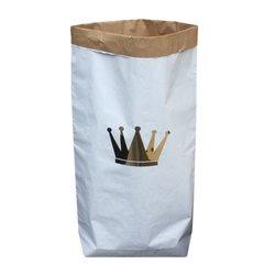 Бумажный пакет мешок для хранения Золотая корона 50x68