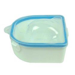 Ванночка для маникюра двойная, голубой