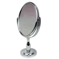 Косметическое зеркало - двустороннее, серебро (0802)