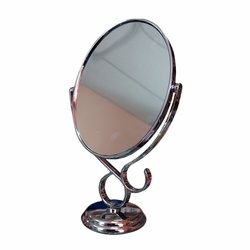 Косметическое зеркало двустороннее серебро 12,5х16 (907)