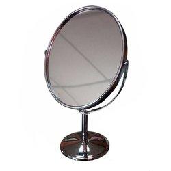 Косметическое зеркало - двустороннее, серебро (828-100)