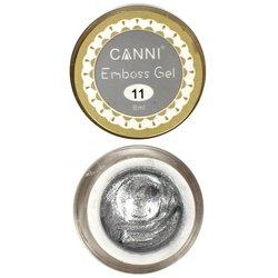Гель-паста CANNI Emboss Gel №11 серебро, 8 мл
