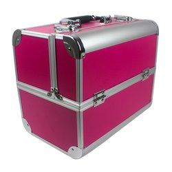 Чемодан для мастера YRE розовый в металле для визажистов