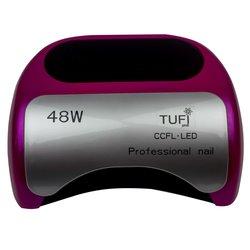 LED+CCFL лампа Tufi Profi  48 Вт с козырьком, розовый