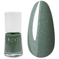 Лак №329 KODI 15 мл, пастельно-зеленый с очень мелким бархатным песком