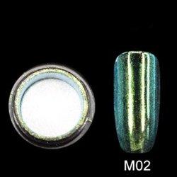 Зеркальная пудра M02 Canni - бирюза, 2 г