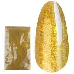 Зеркальный блеск золото голографик (201)