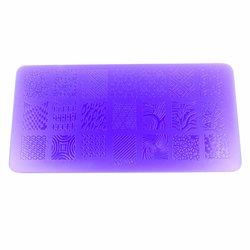 Пластина-трафарет для стемпинга YRE XY-L04 пластик, фиолетовый