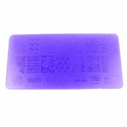 Пластина-трафарет для стемпинга YRE XY-L29 пластик, фиолетовый