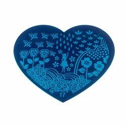 Пластина-трафарет для стемпинга YRE №17 металл, сердце