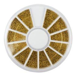 Бульонки в карусели  - золото, металлические