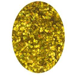 Блестка шестиугольник - золото голографик, 0,8 мм