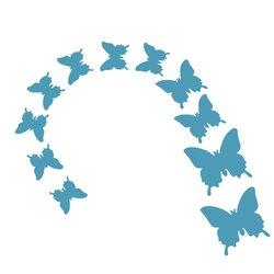 Бабочки для декора - голубые, 12 шт