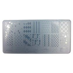 Пластина-трафарет для стемпинга YRE JQ-L01 пластик, белый