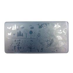 Пластина-трафарет для стемпинга YRE JQ-L16 пластик, белый