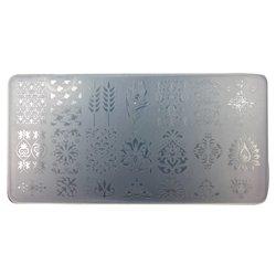 Пластина-трафарет для стемпинга YRE JQ-L20 пластик, белый
