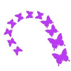 Бабочки для декора - фиолетовые, 12 шт
