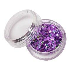 Декор брокат фиолетовый-зеленый