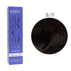 Краска для волос Estel Sense №5/7 (светлый шатен коричневый)
