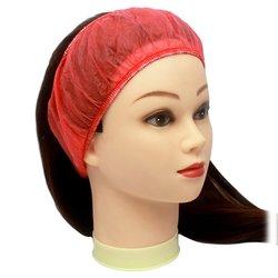 Повязка для волос одноразовая, 10 шт красный