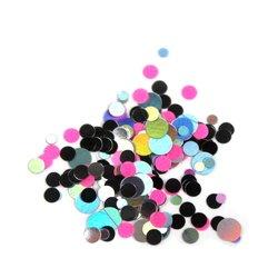 Конфетти для дизайна ногтей, розово-серебрянный