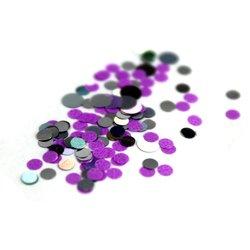 Конфетти для дизайна ногтей, фиолетово-серебрянный