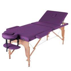 Массажный стол HQ09-SOL, фиолетовый
