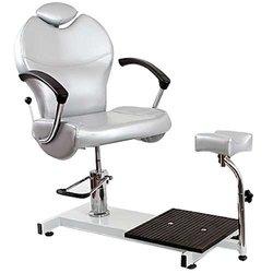 Педикюрное кресло Top Jetta с подножкой, серебристый (8915002TOP S)