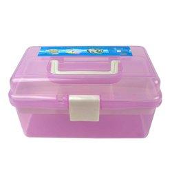 Контейнер для хранения инструментов YRE со сьемным отделением,  средний фиолетовый