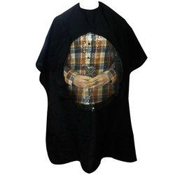 Пеньюар YRE- черный с круглым окном с буквами