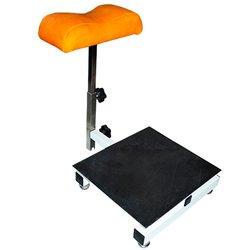 Тренога Квадрат для педикюра (000292) с стеллажом для ванночки - оранжевый